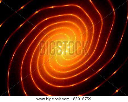 Glowing Fiery Spiral Technology