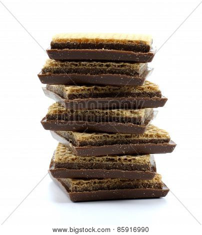Wafers With Chocolate Mass