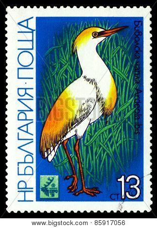 Vintage  Postage Stamp.  Bird Gattle Egret.