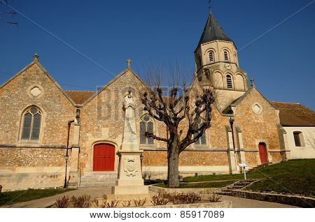 France, Church Of Saint Martin La Garenne In Les Yvelines