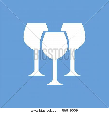Stemware white icon