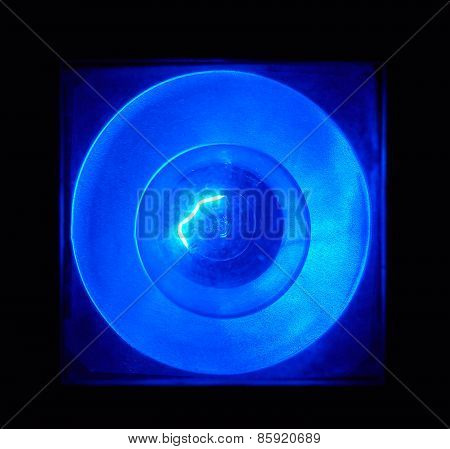 Light Bulb With Blue Filter