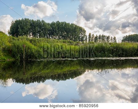 Mirrored View In Dutch Canal