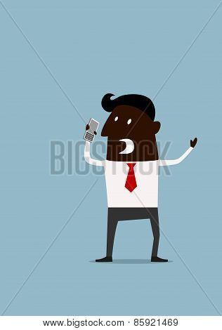 Angry frustrated afroamerican businessman