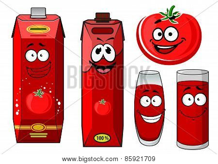 Red tomato vegetable and juice