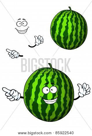 Fun happy cartoon watermelon character