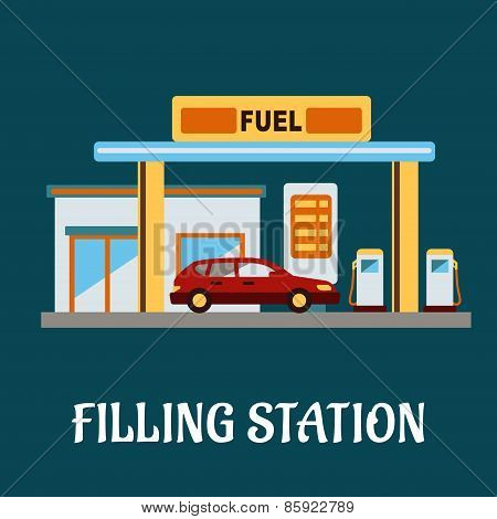 Car refueling at a filling station