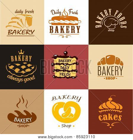 Creative bakery logos and banners