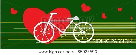 Vector Bicycle Riding Passion Exercise Concept