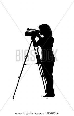 camerawoman silhouette