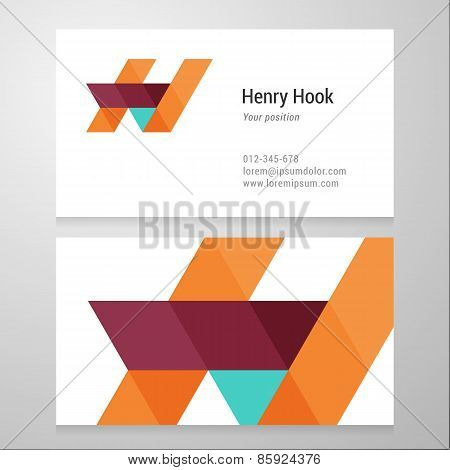 Modern Letter H Business Card Template