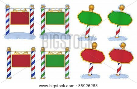 North Pole Sign 3D Set
