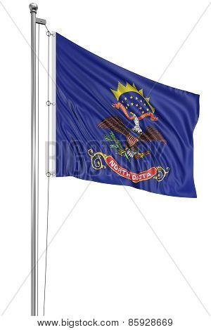 3D North Dakota Flag