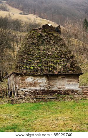 Ancient village house in the Occidental Carpathians, Romania