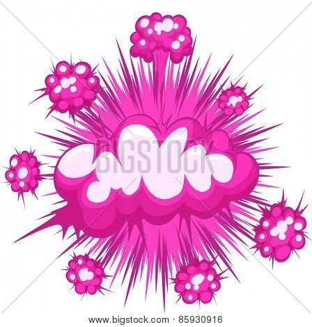 Pink cloud explosion with writing space