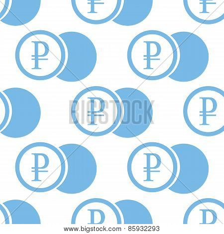 Rouble coin seamless pattern