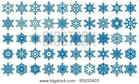 Snowflakes Shapes Set