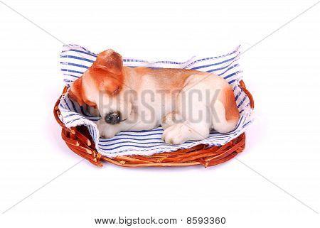 Sleeping dog toy