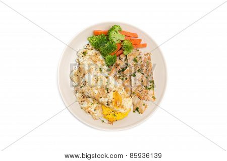 Diet Food, Clean Eating, Chicken Steak With Eggs