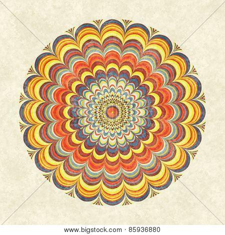 Colorful Vintage Round Mandala