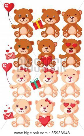 Tedd Bear Character Set