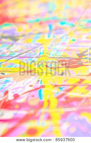 Defocused abstract painting