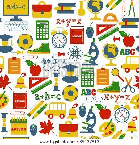 School seamless pattern