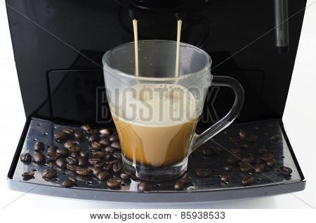 Coffee Maker And Coffee Beans