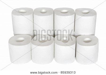12 Toilet Paper Rolls.