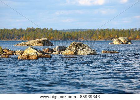 Lake Inari In Finland.