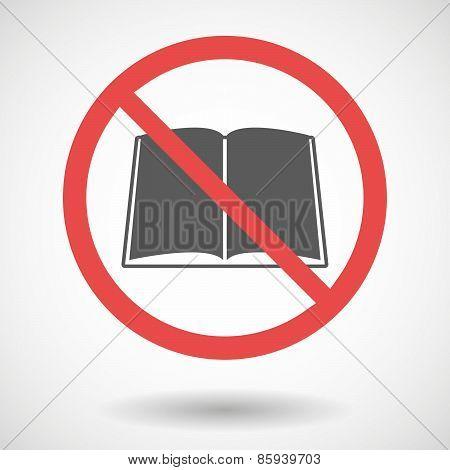 Forbidden Signal With A Book