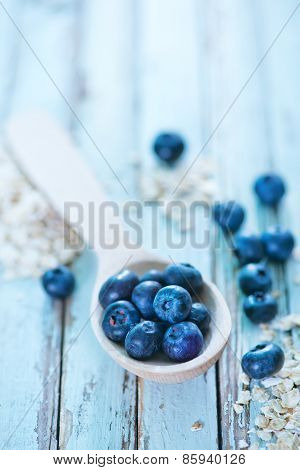 Oat Flakes And Blueberry