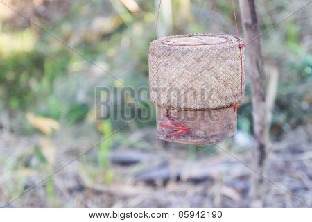 Rattan Container For Keeping Glutinous Rice
