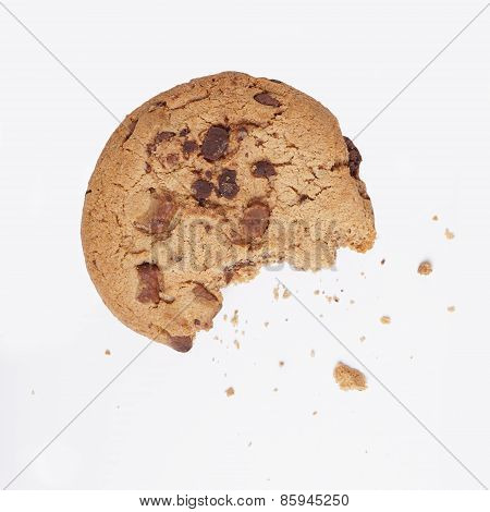 cookie bitten into