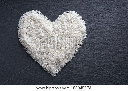 rice in heart shape