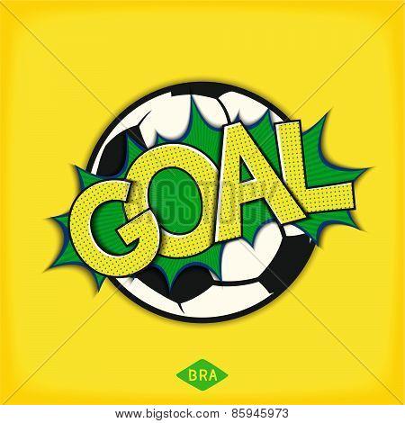 Goal - lettering design