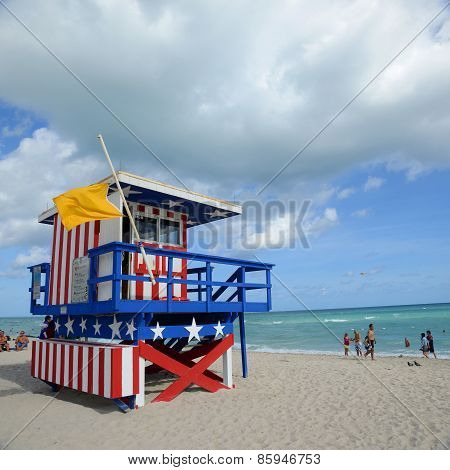 Lifeguard Huts in South Beach, Miami Beach