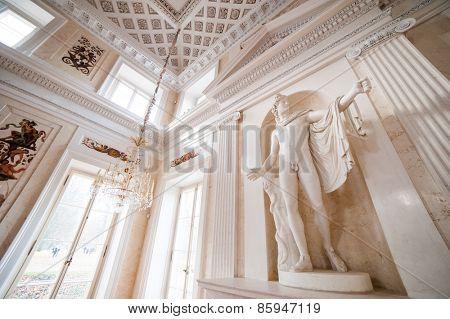 Warsaw, Poland - november 09, 2014:  Palace Lazienki - public Museum in Warsaw. Seat of Polish king - Poniatowski.