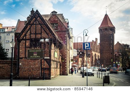 Gdansk, Poland - March 14, 2014: Historical Old Town of Gdansk in Poland