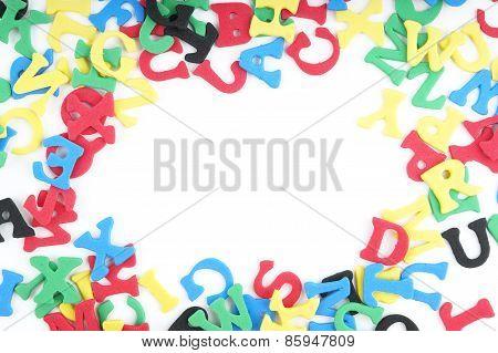 sponge rubber letters border