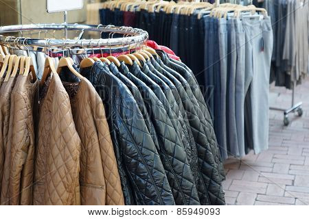 quilted jackets and jeans for sale