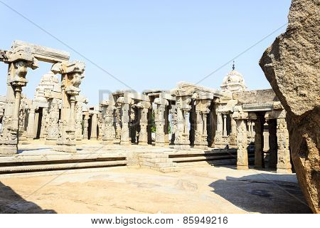 Unfinished Kalyana mandapa of Veerabhadra temple at Lepakshi