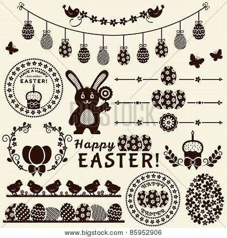 Happy Easter! Vector Design Elements.