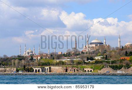 Blue Mosque, Hagia Sophia And Istanbul