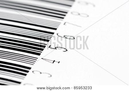 Barcode On A White Background