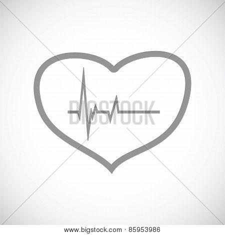 Heartbeat black icon