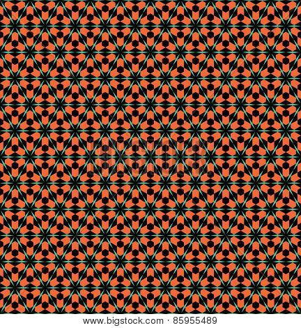 Hexagons and triangles pattern. Seamless geometric texture. Vector art.