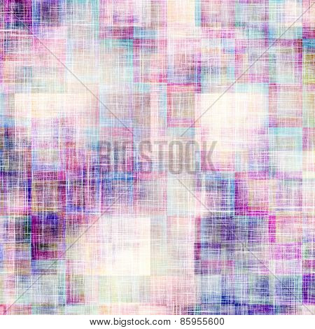 Weathered and distressed grunge background with different color patterns: blue; cyan; purple (violet); pink