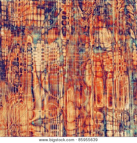 Old texture or antique background. With different color patterns: yellow (beige); red (orange); blue; cyan