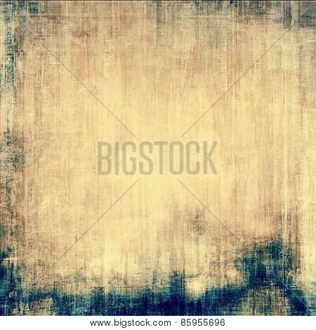 Old texture - ancient background with space for text. With different color patterns: yellow (beige); brown; gray; blue